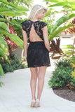 Black Lace Dress With Open Back