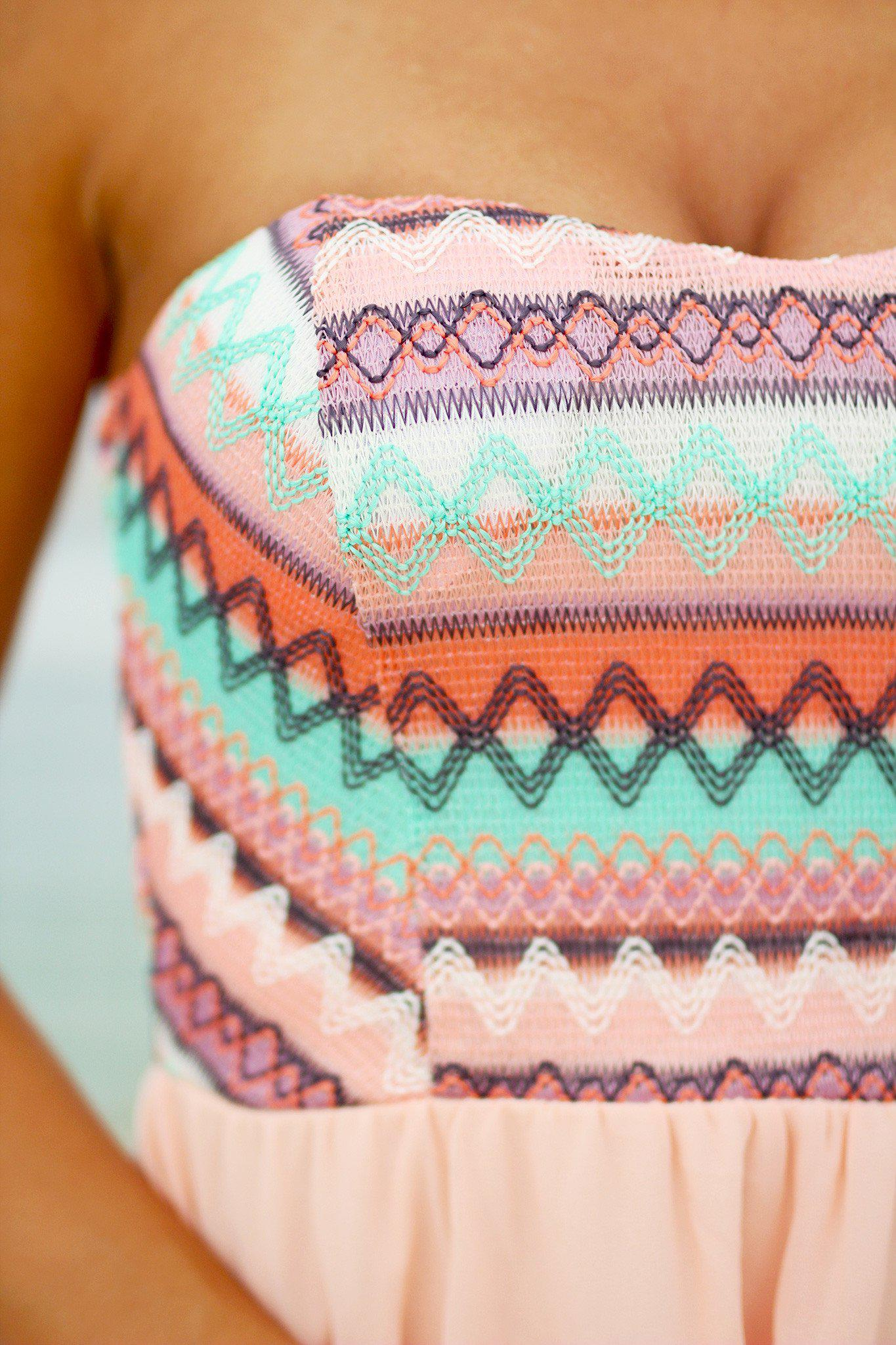 Peach and Mint Short Dress