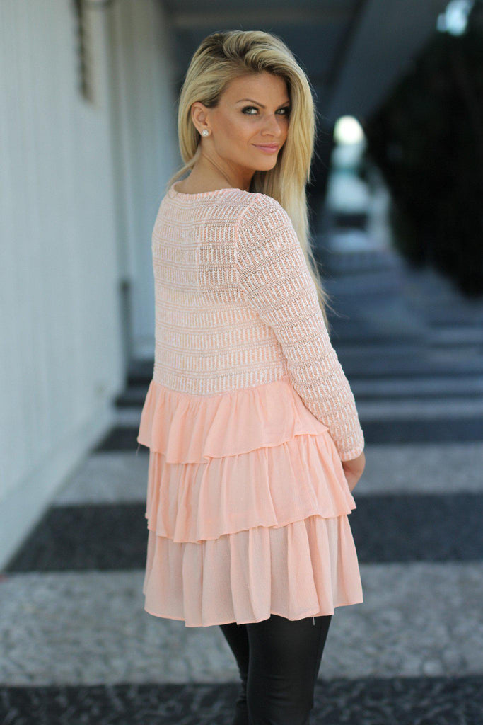 peach tunic top