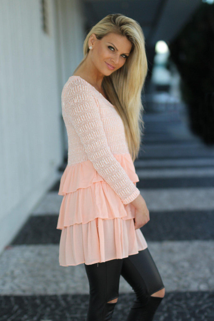 peach long top