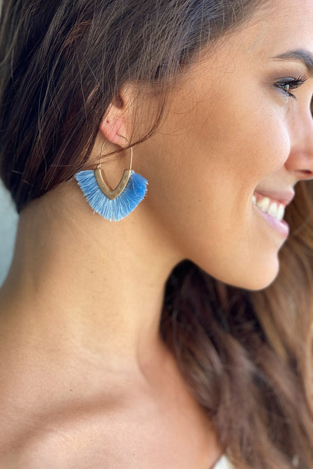 Periwinkle Tassel Earrings