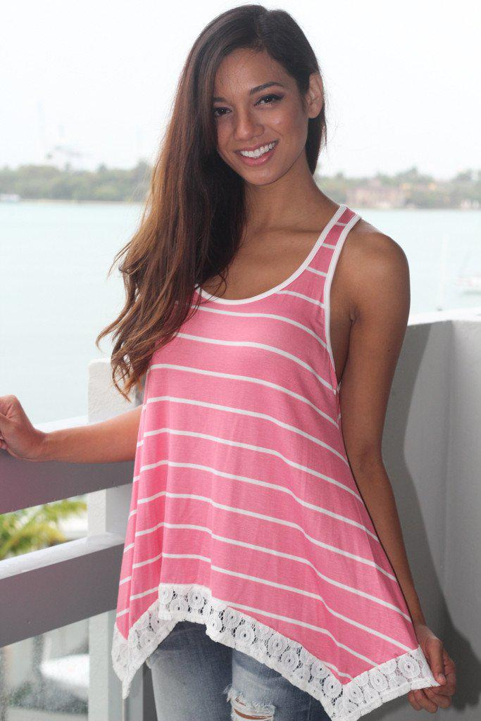 Pink Racerback Bow Top