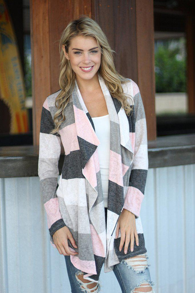 ivory and pink cardigan