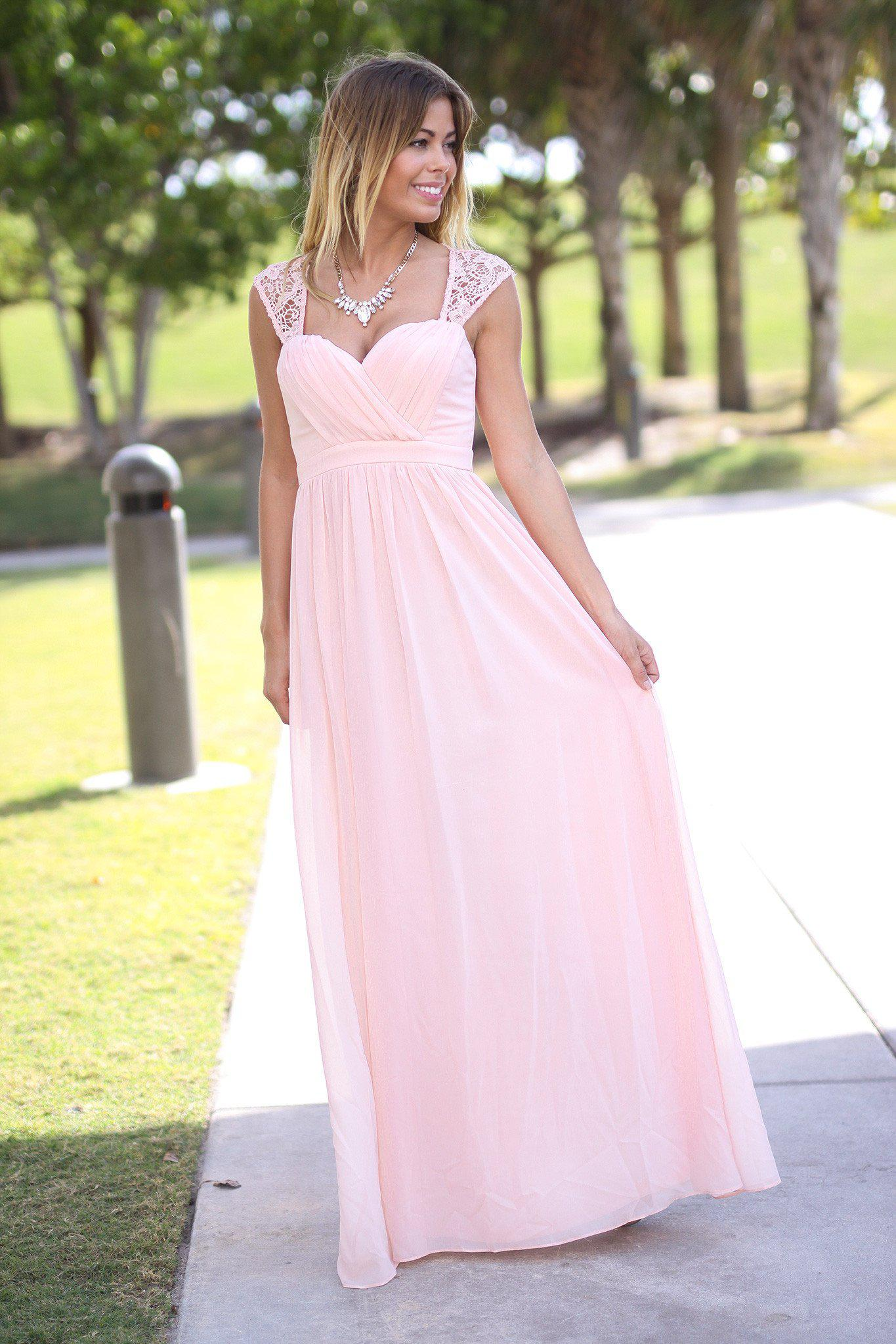 Pink Bridesmaid Maxi Dress | Bridesmaid Dresses – Saved by the Dress