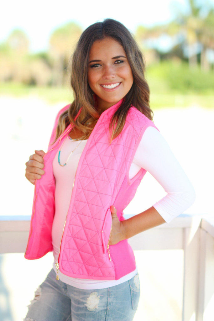 Neon Pink Padded Vest