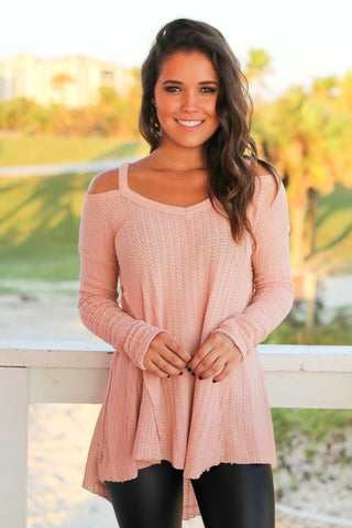 Pink V-Neck Sweater