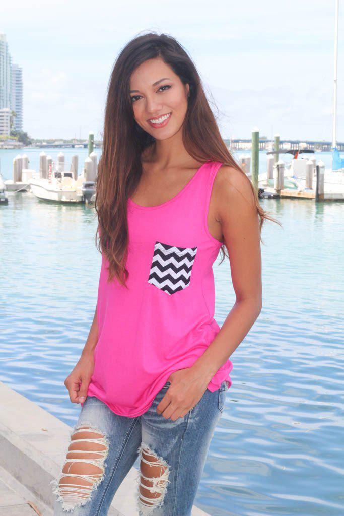 hot pink casual top