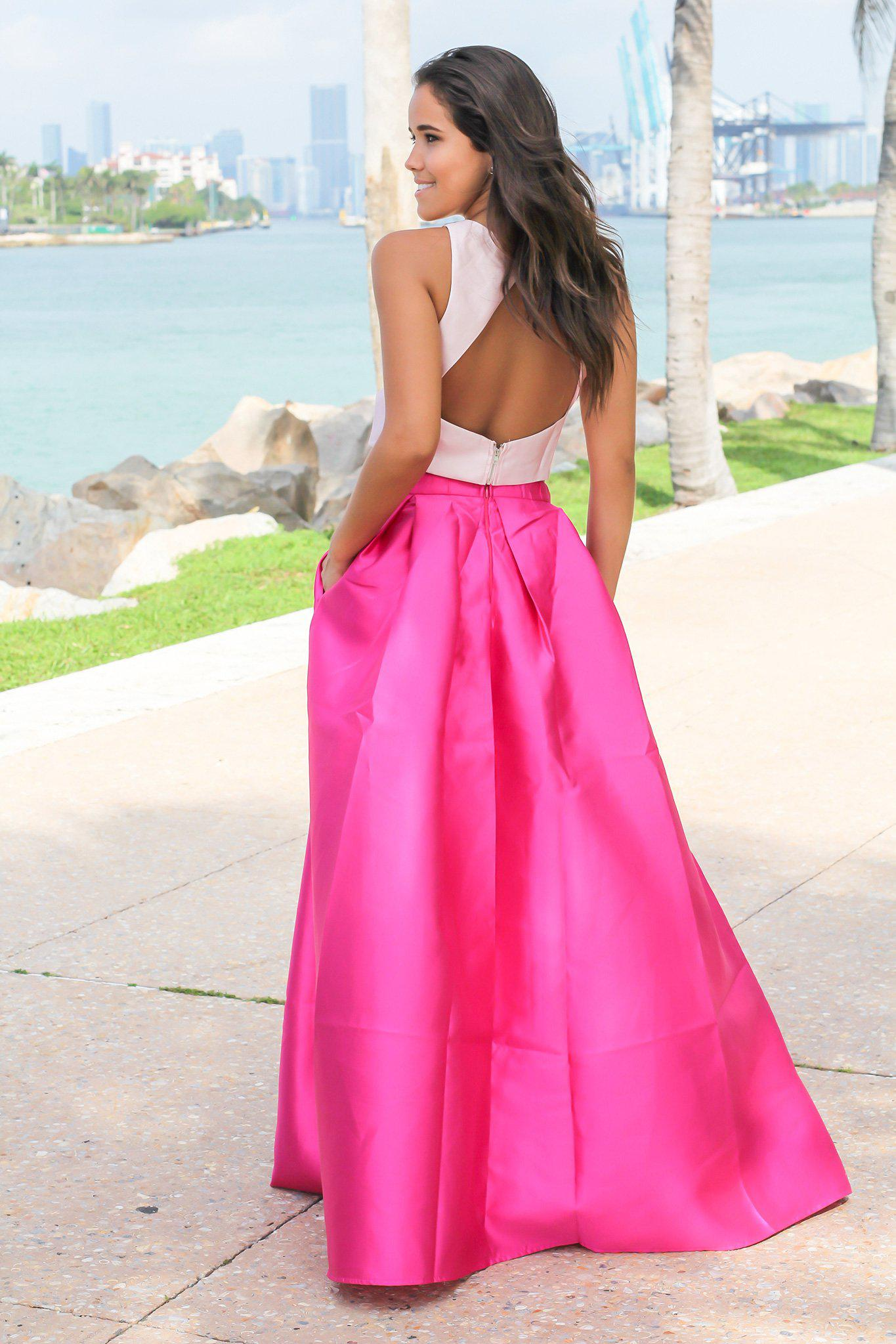 Pink and Magenta Two Piece Set