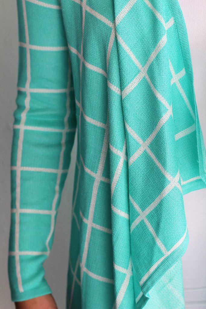 Mint Plaid Cardigan