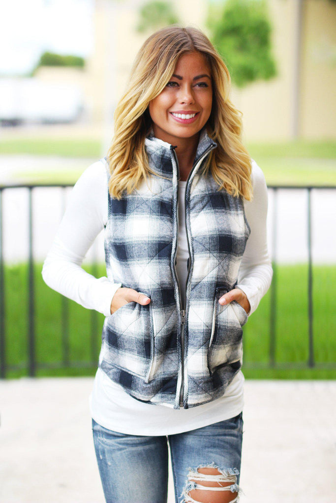 flannel cute vest