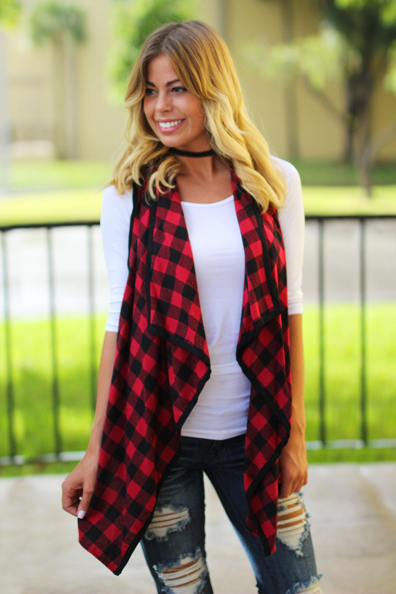 red cute vest
