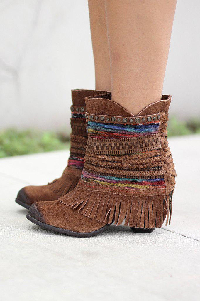 tan spring boots