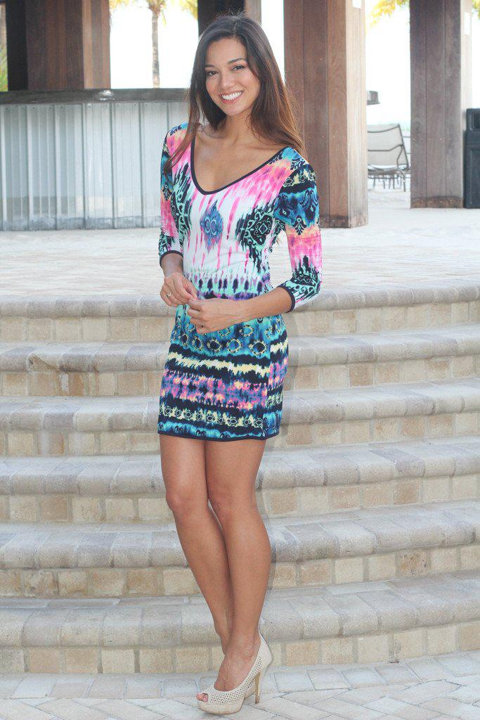 Printed Bodycon Short Dress