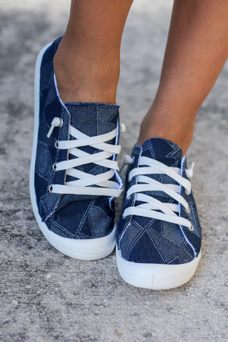 Rhemmy Blue Denim Sneakers