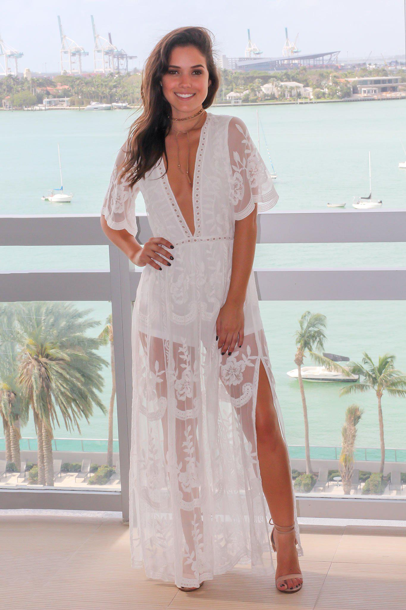 eacdad21cdb White Lace Maxi Romper