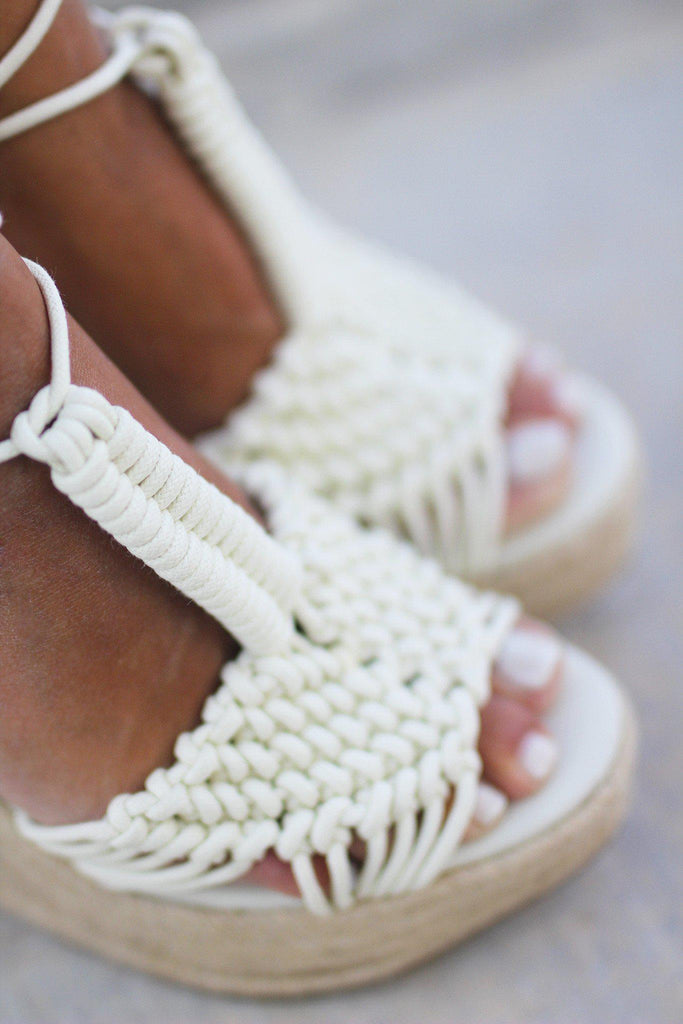 off white open toe wedges