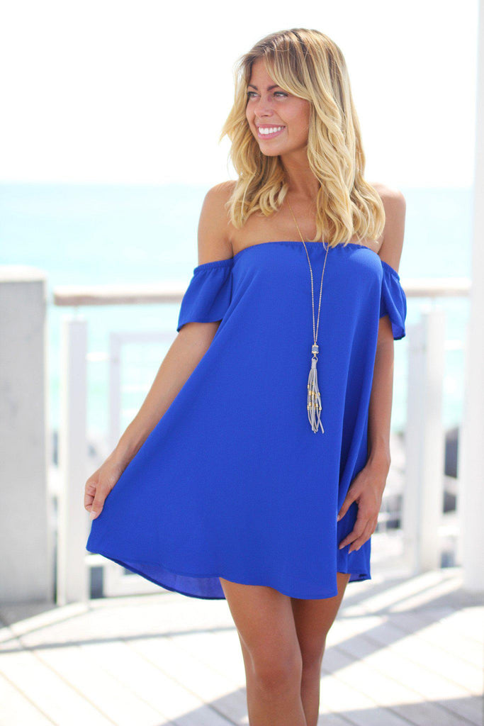 royal blue fashion dress