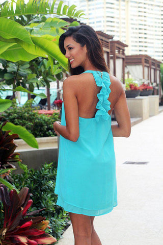 Jade Ruffle Back Dress