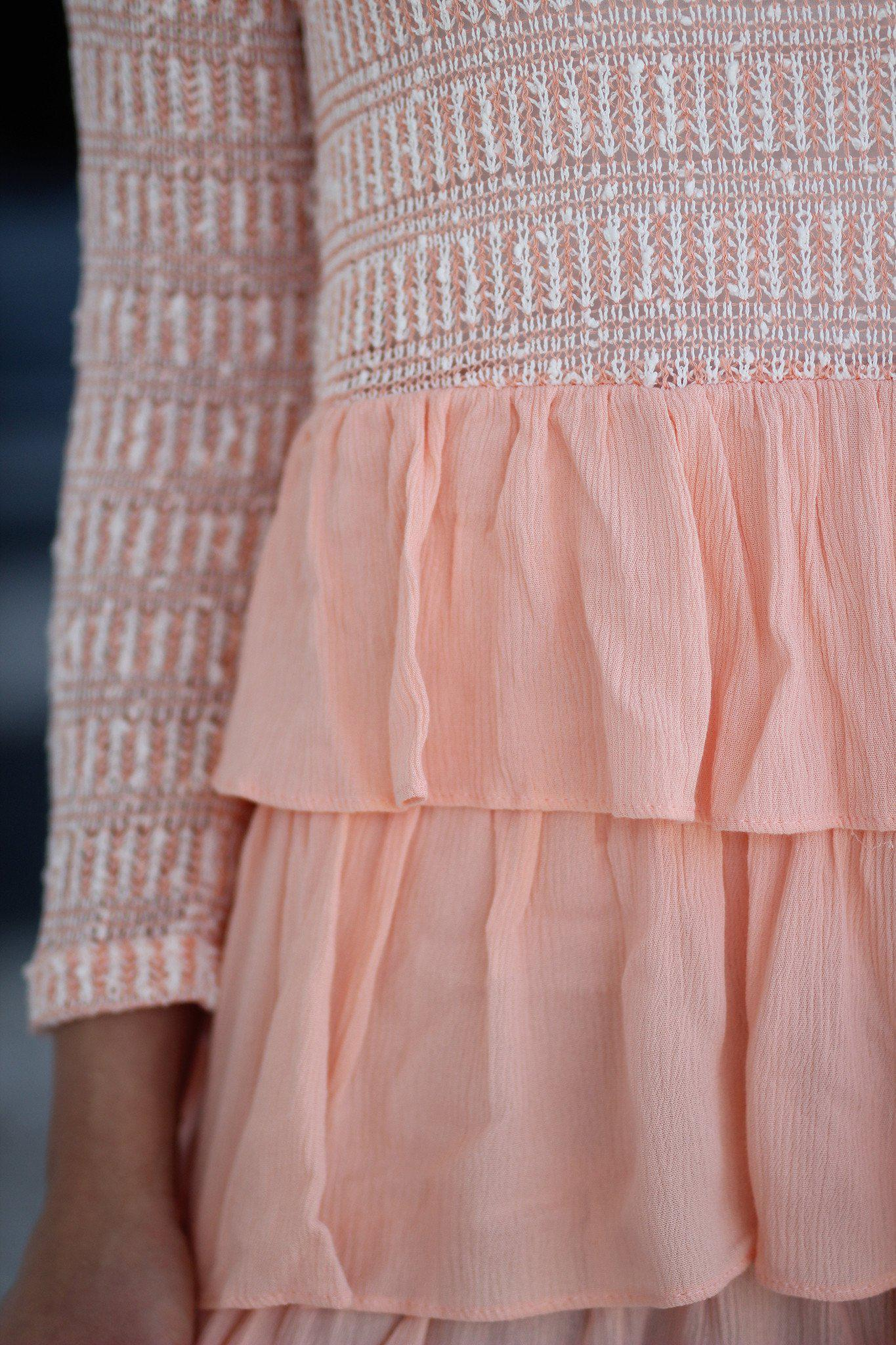 Peach Ruffled Top
