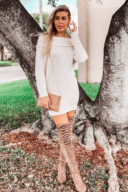 Sand Off Shoulder Tunic