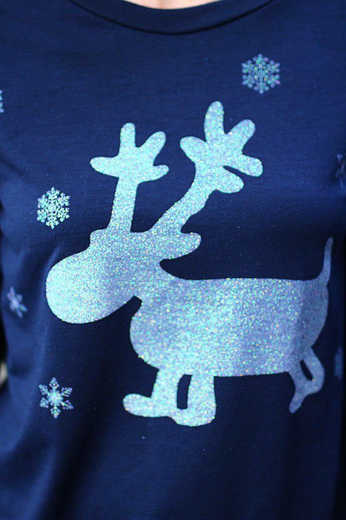 Navy Reindeer Sweater
