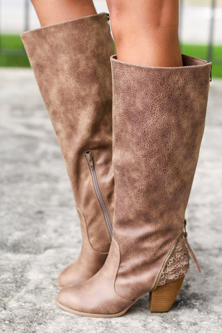 Sass it Up Taupe Boots