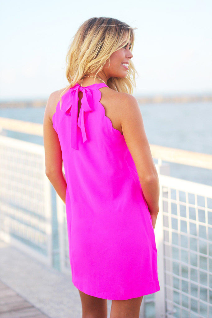 hot pink casual dress