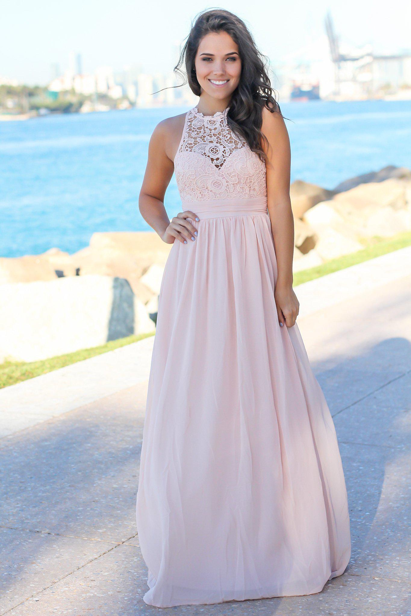 Shell Crochet Maxi Dress