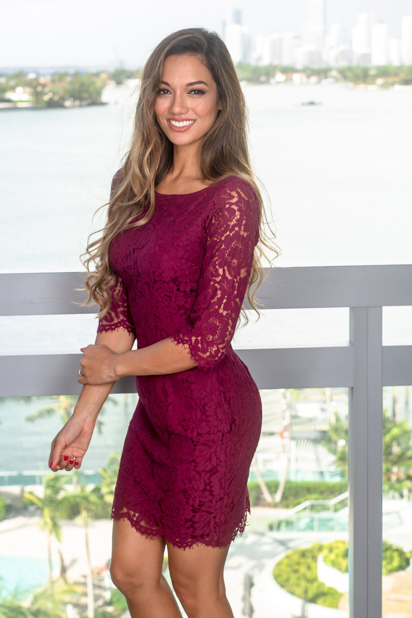 Short Dress with Sleeves