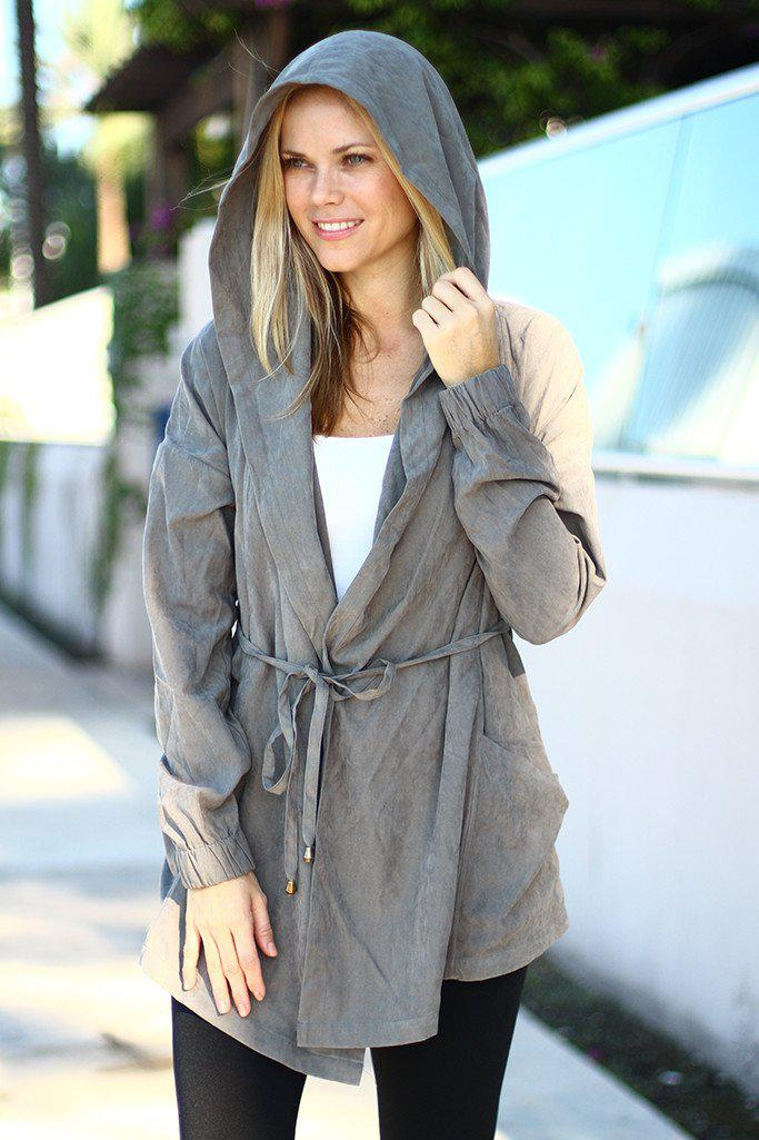 Gray Hooded Jacket