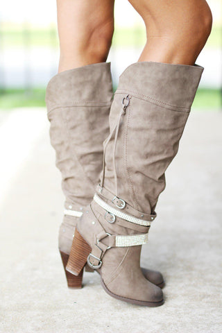 Stacey Taupe Boots