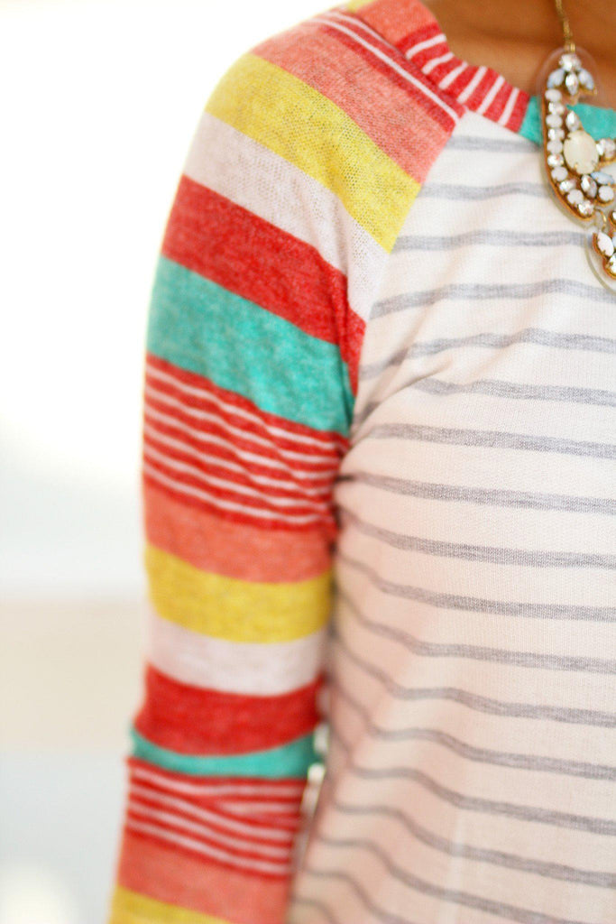 striped rainbow top