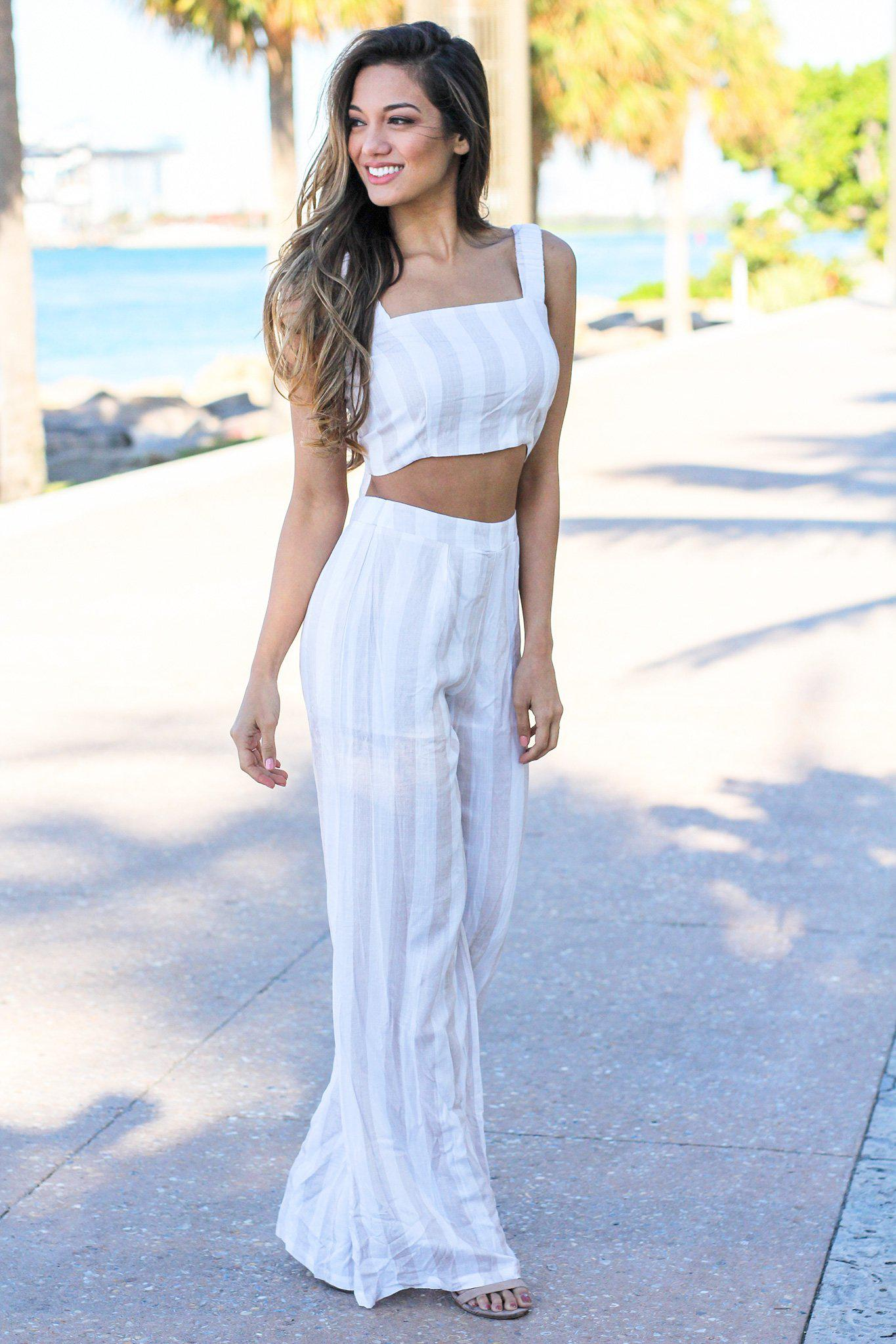 Striped Two Piece Sets