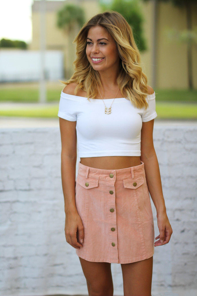rose short skirt