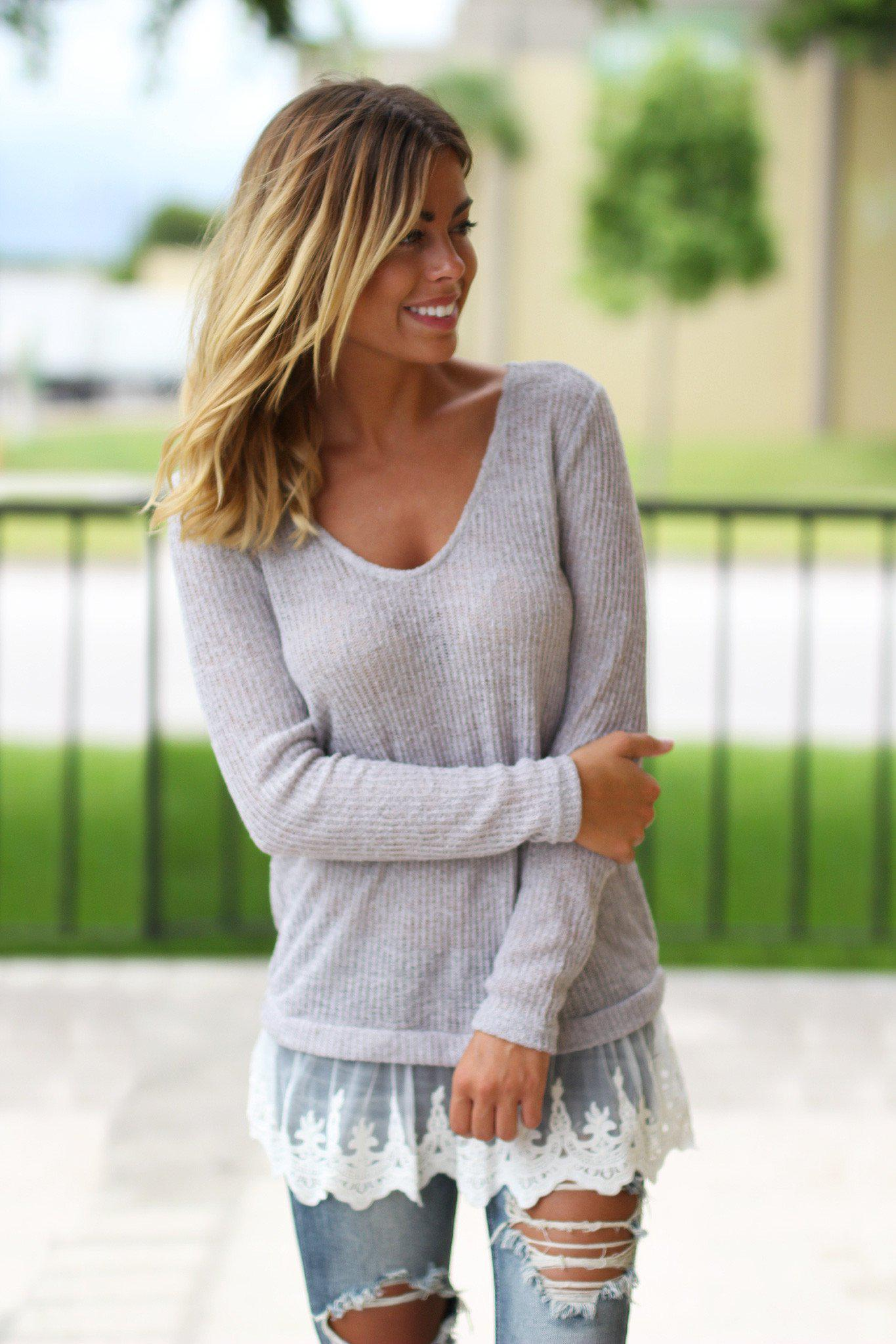 gray winter sweater