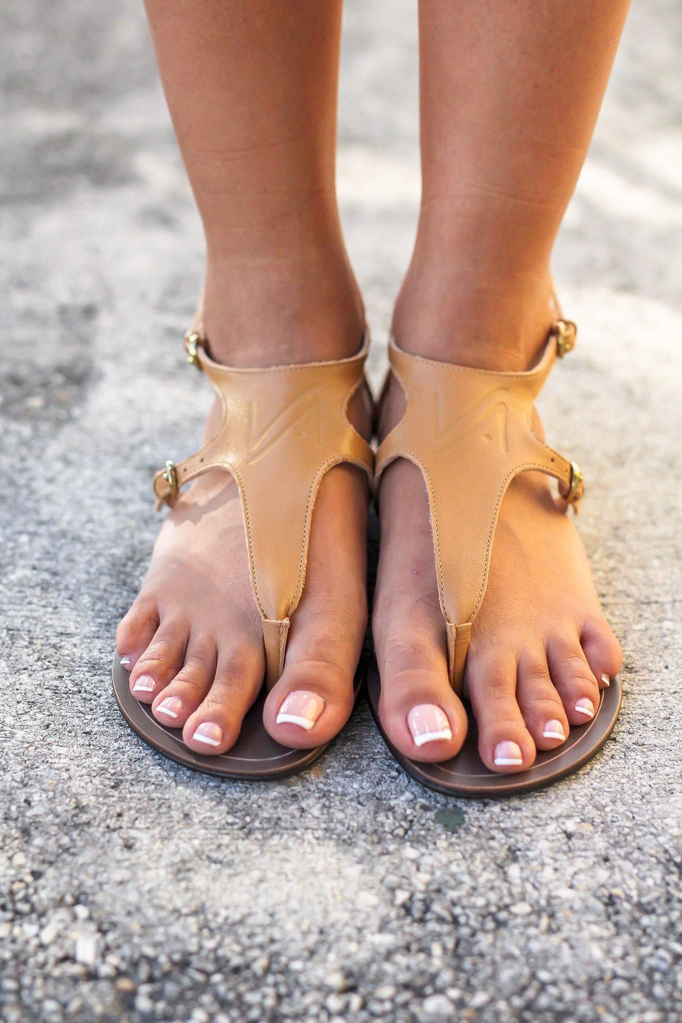 Tan Sandals with Buckle