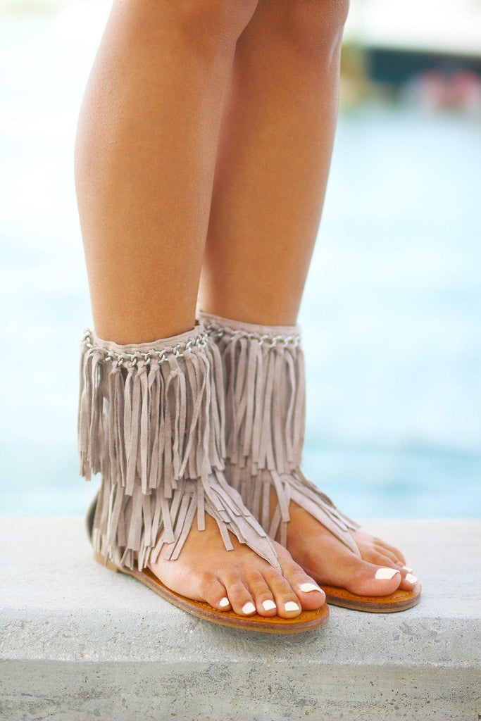 taupe fashion sandals