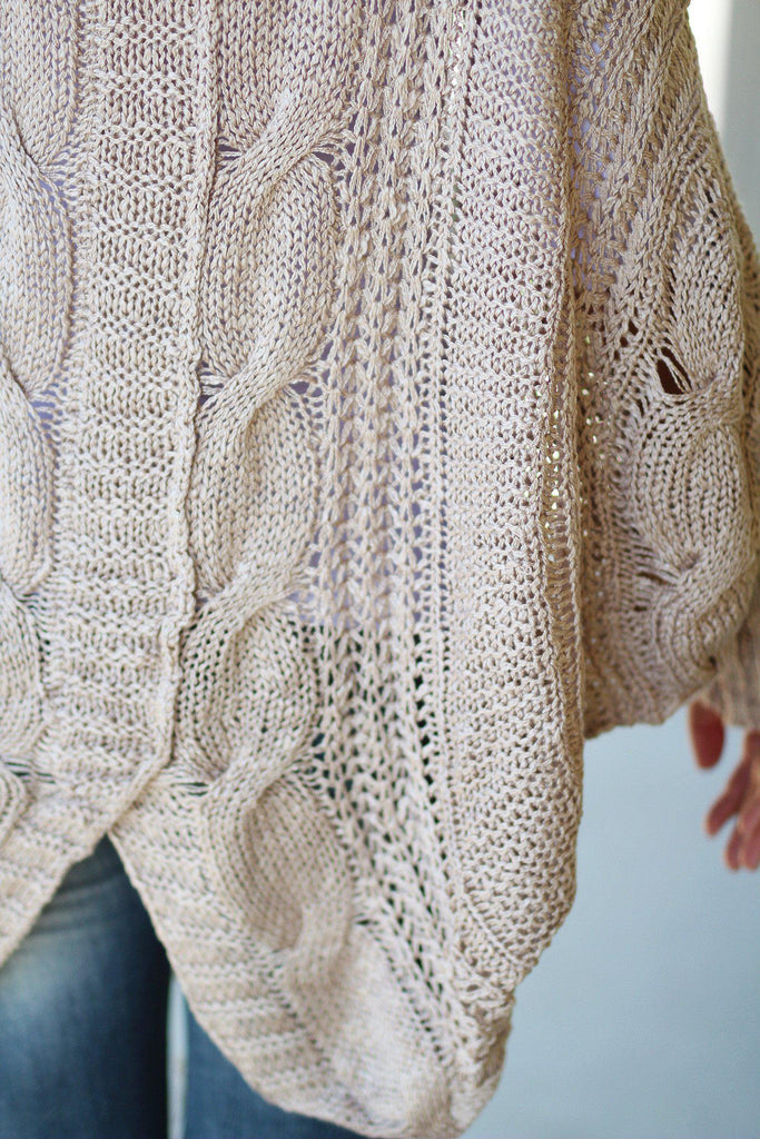 taupe knitted cardi