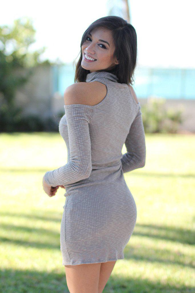 taupe casual dress