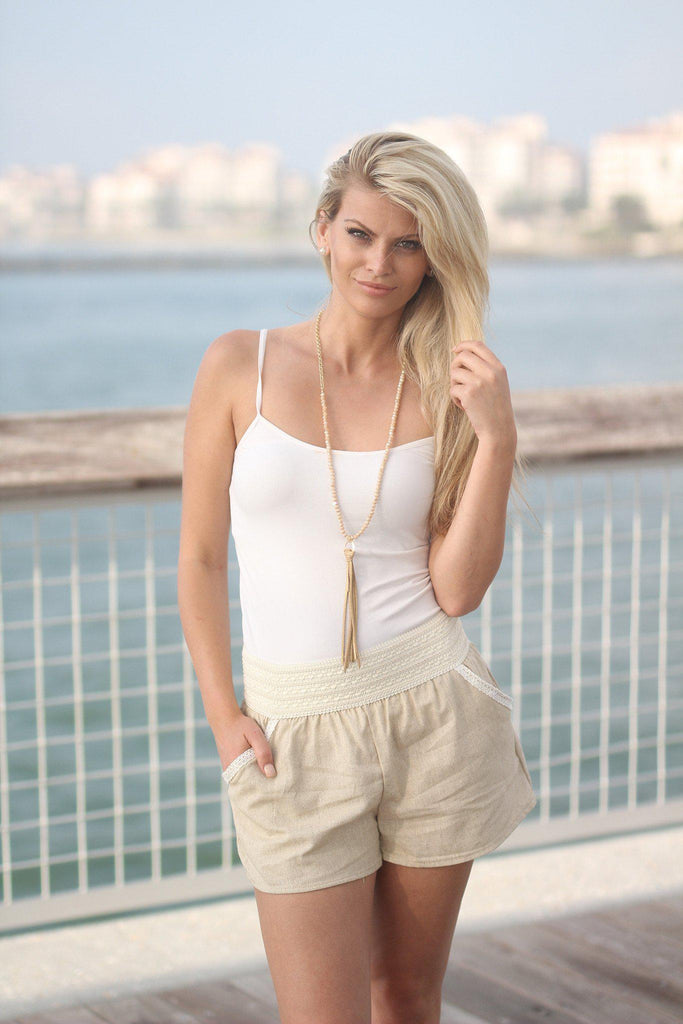 taupe beach shorts