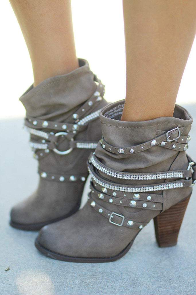 Swazy Taupe Booties