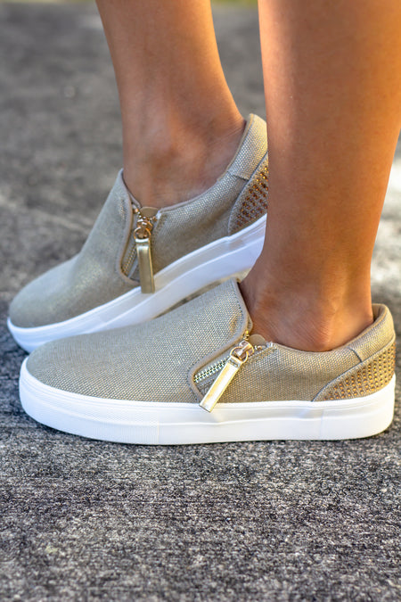 Timbre Gold Sneakers