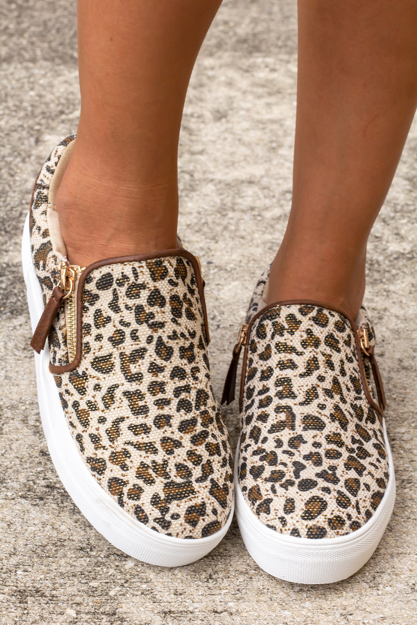Timbre Leopard Sneakers