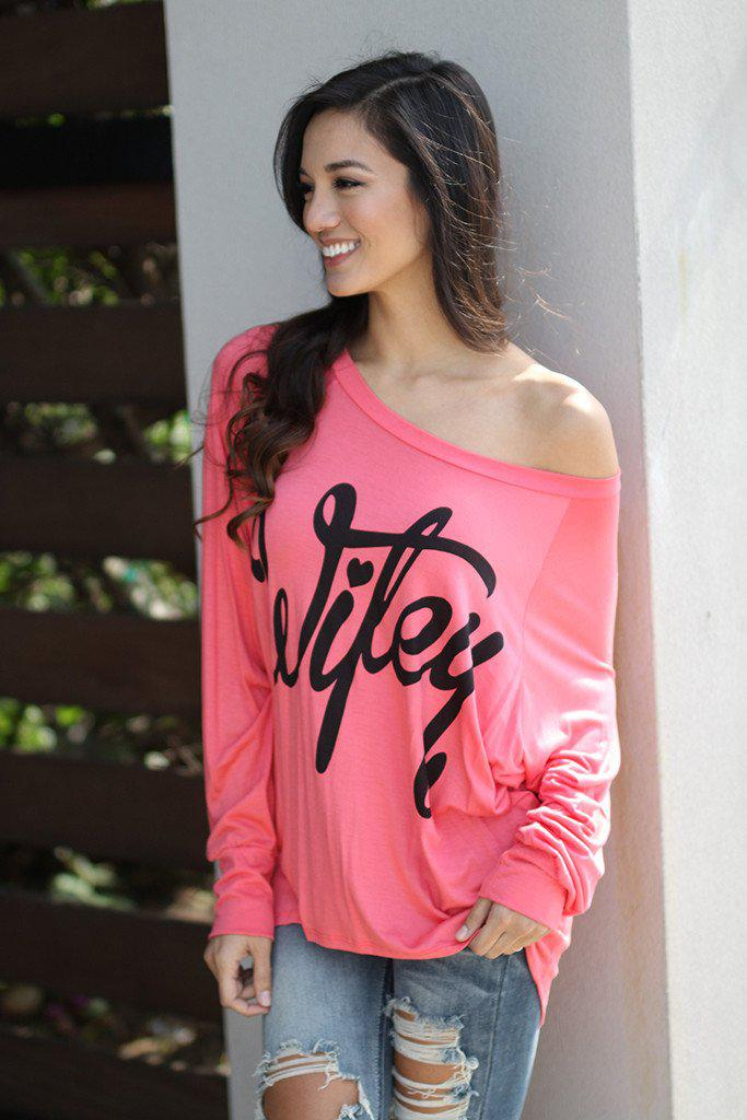 "Coral ""Wifey"" Top"