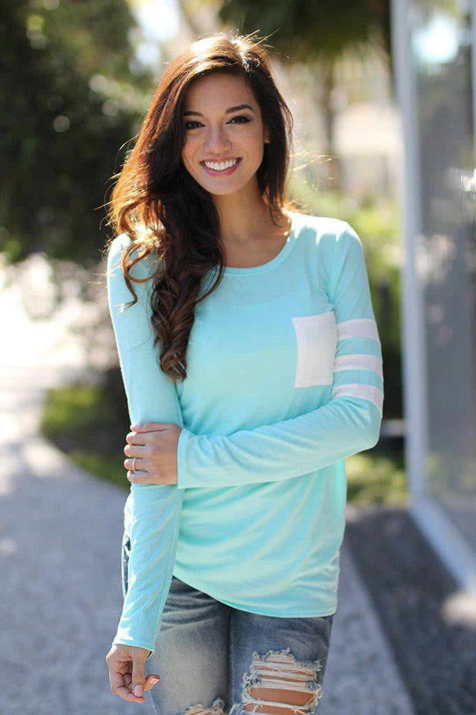 mint long sleeve top