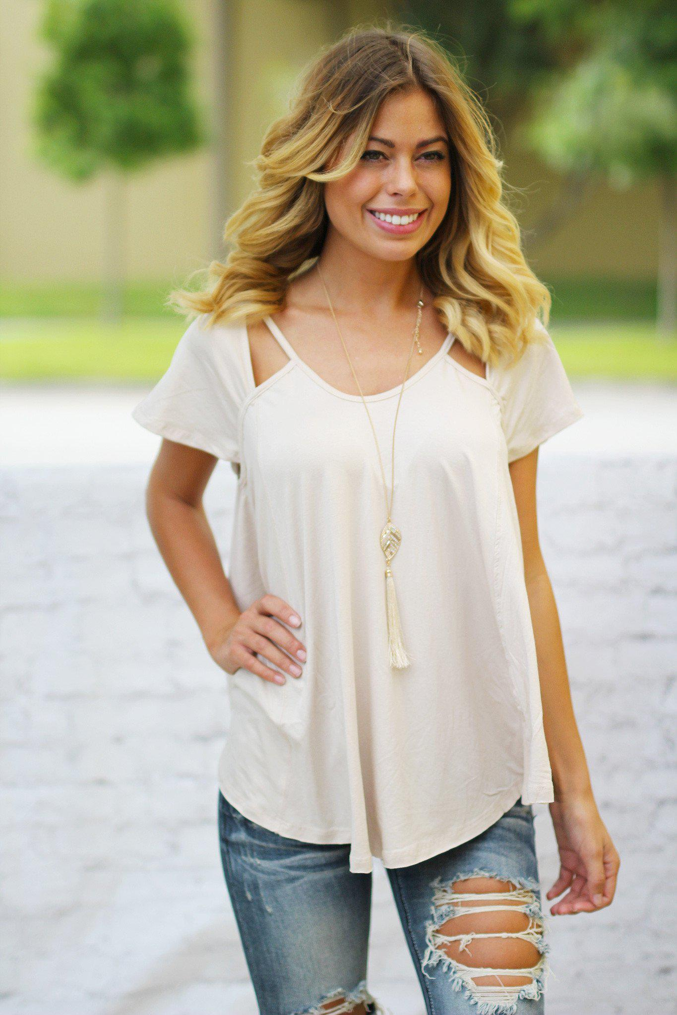 Natural Top with Cutouts
