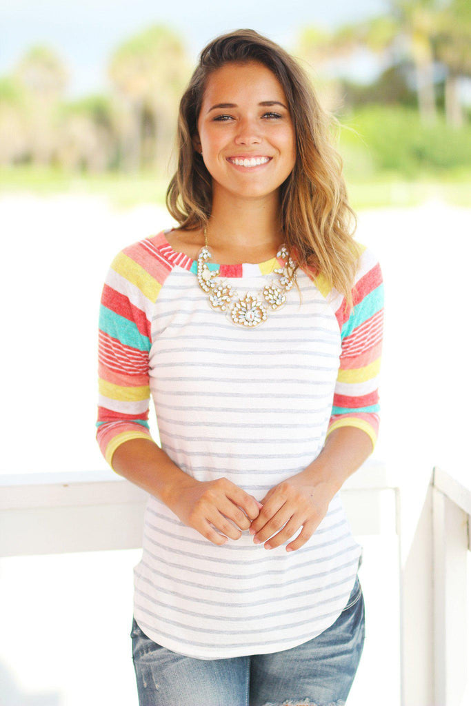 striped transition top