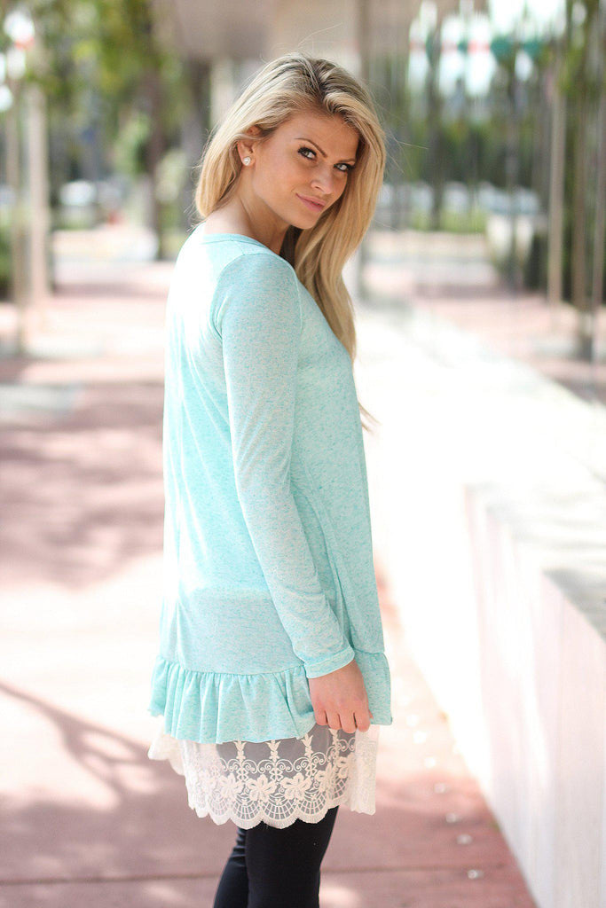 mint cute tunic