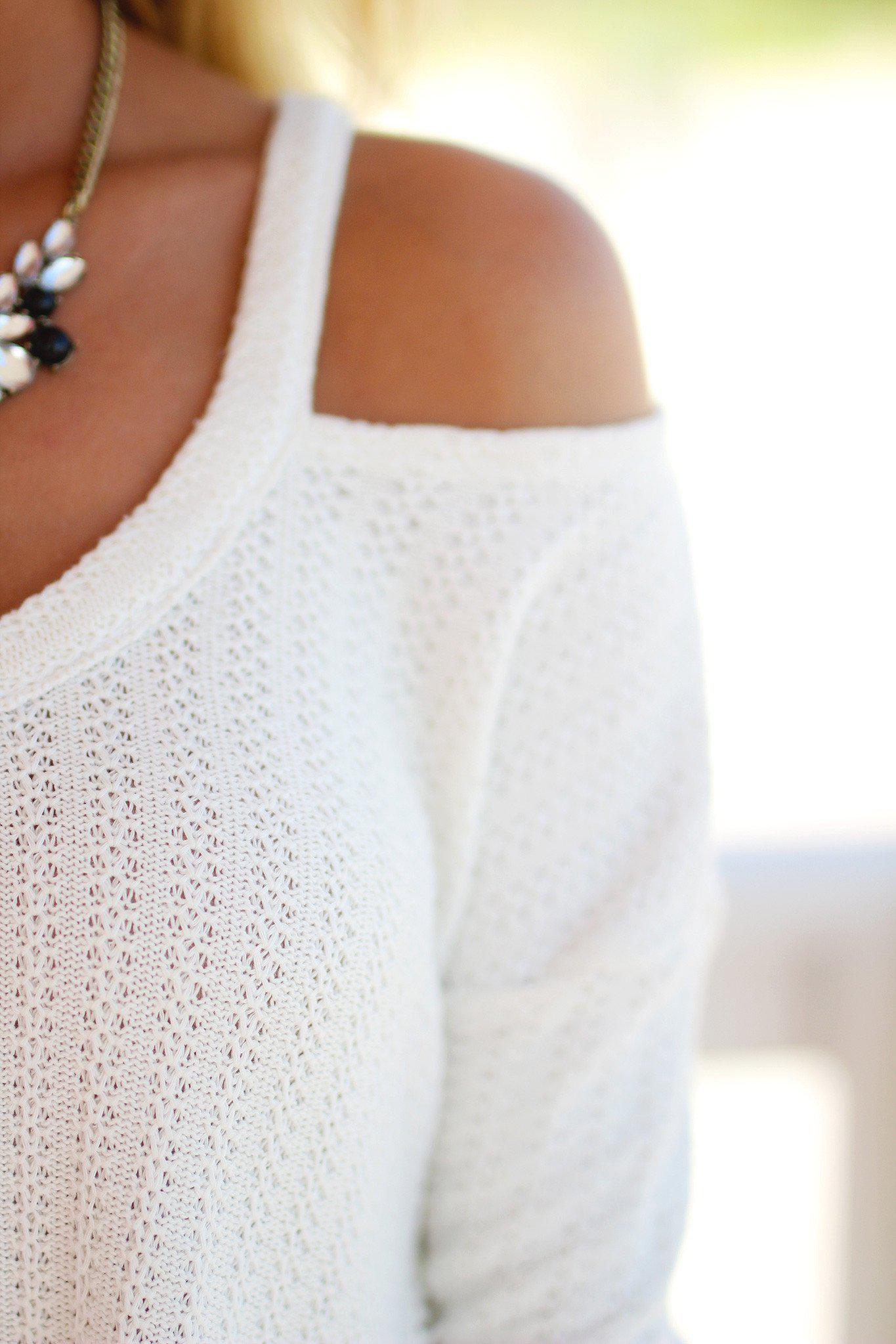 ivory sweater with ruching