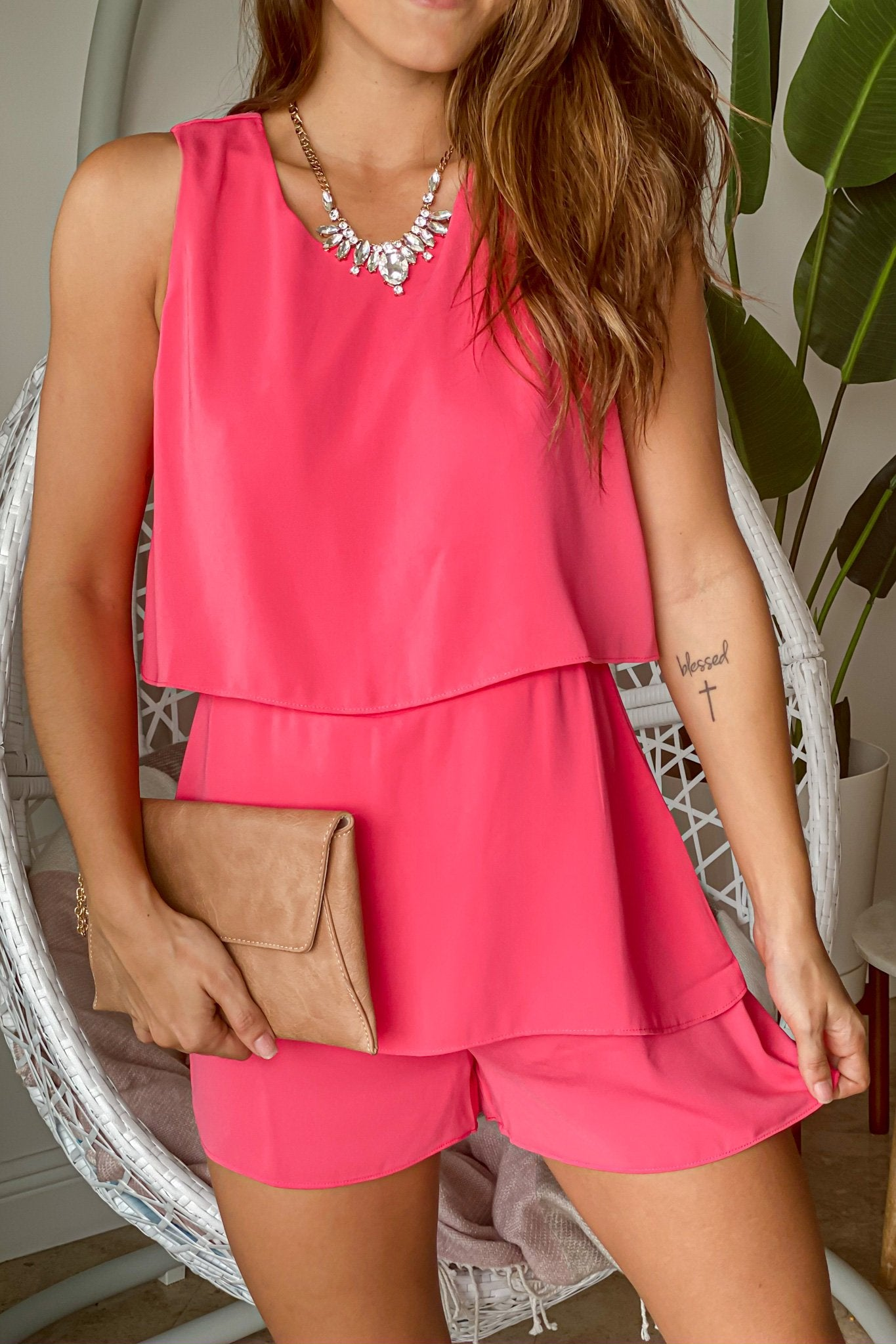 Watermelon Layered Romper
